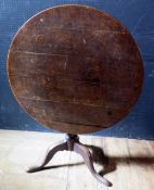 A Georgian Oak Tilt Top Pedestal Tripod Table