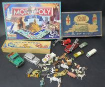 A Selection of Toy Cars and Animals Including Matchbox, Corgi, Dinky, Chad Valley 1930's GWR