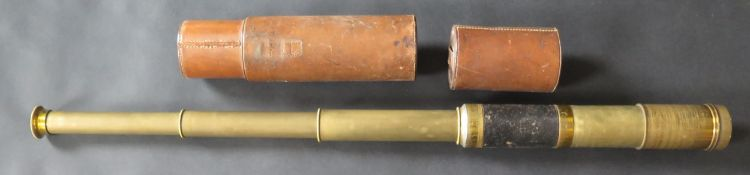 A Four Drawer Telescope with leather case, 20-33cm