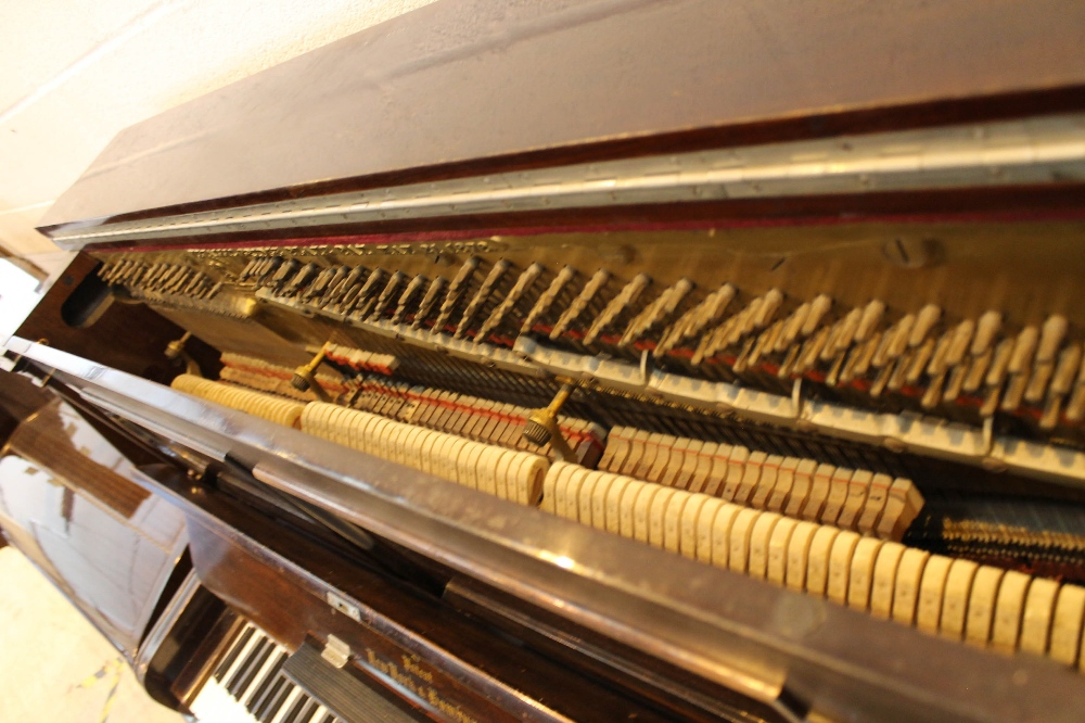 Steinway (c1896) A Model E upright piano in a rosewood case; together with a stool. - Image 4 of 5