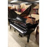 Brodmann (c2008) A 6ft 1in Model 187 grand piano in a bright ebonised case on square tapered