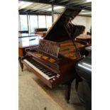 Bechstein (c1898) A 7ft 4in Model C grand piano in a bright mahogany case on square tapered legs.