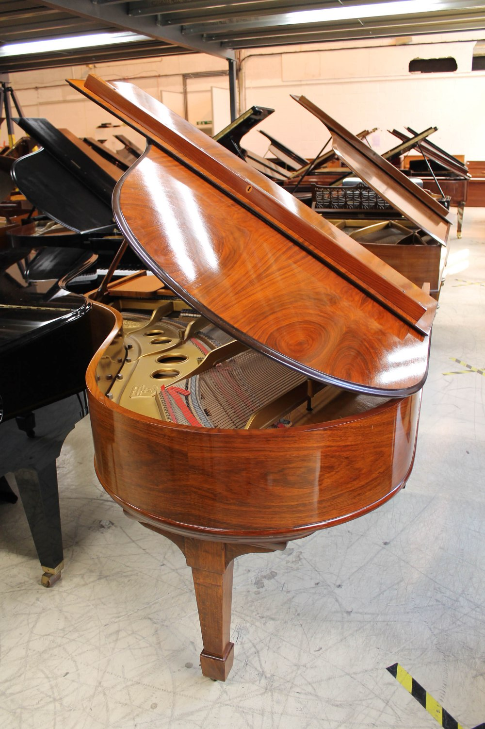 Steinway (c1908) A 5ft 10in Model O grand piano in a rosewood case on square tapered legs. - Image 7 of 8