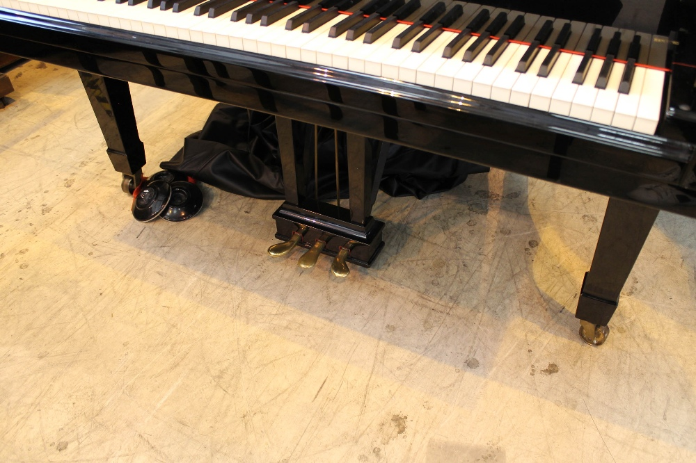 Steinway (c1971) A 6ft 11in Model B grand piano in a bright ebonised case on square tapered legs; - Image 3 of 9