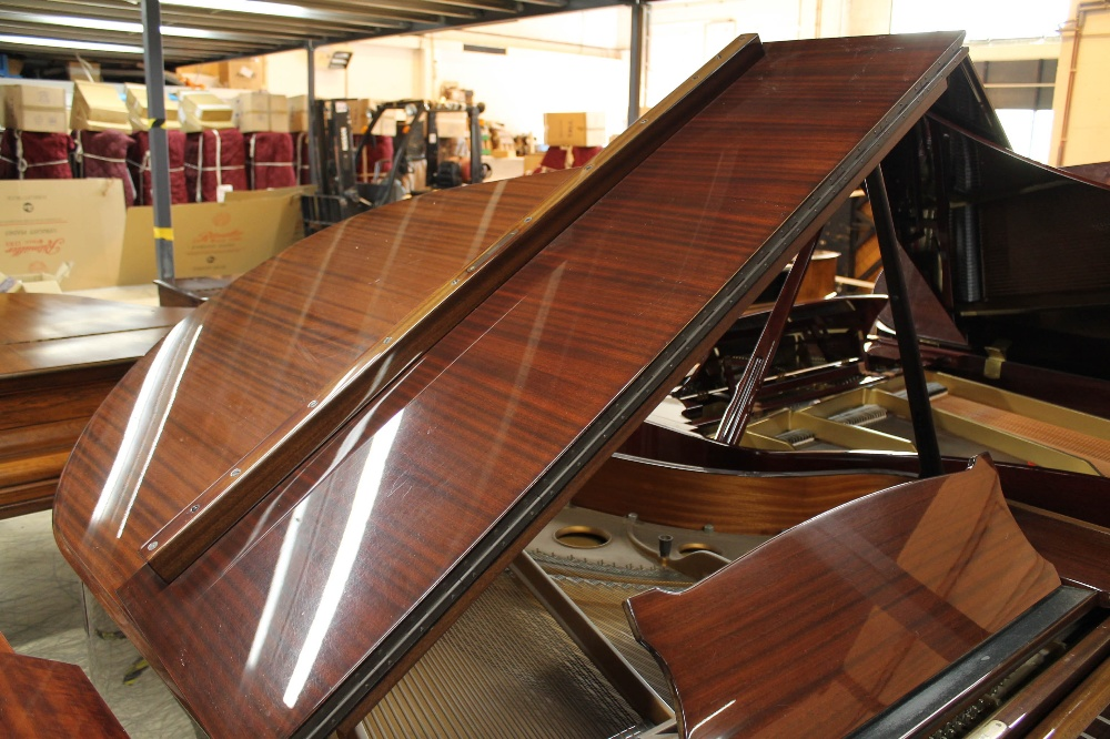 Steinway (c1979) A 5ft 10in Model O grand piano in a bright mahogany case on square tapered legs; - Image 6 of 9