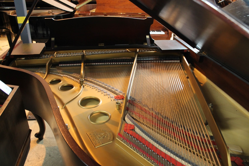Steinway (c1940) A 5ft 10in Model O grand piano in a mahogany case on cabriole legs; - Image 8 of 9
