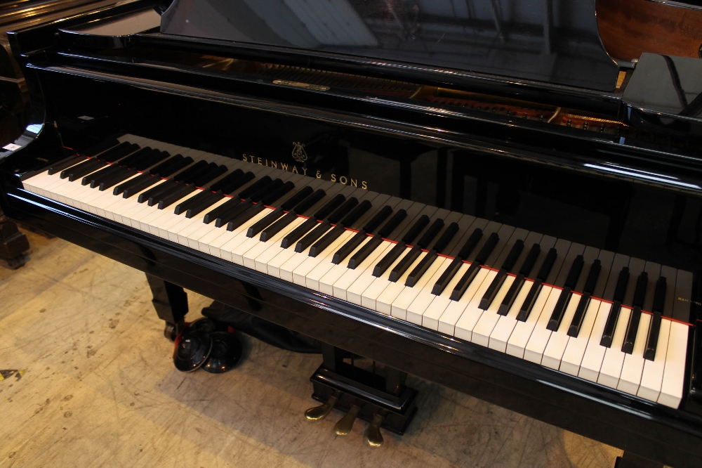 Steinway (c1971) A 6ft 11in Model B grand piano in a bright ebonised case on square tapered legs; - Image 2 of 9