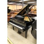 Yamaha (c1984) A 6ft 1in Model C3 grand piano in a bright ebonised case on square tapered legs.