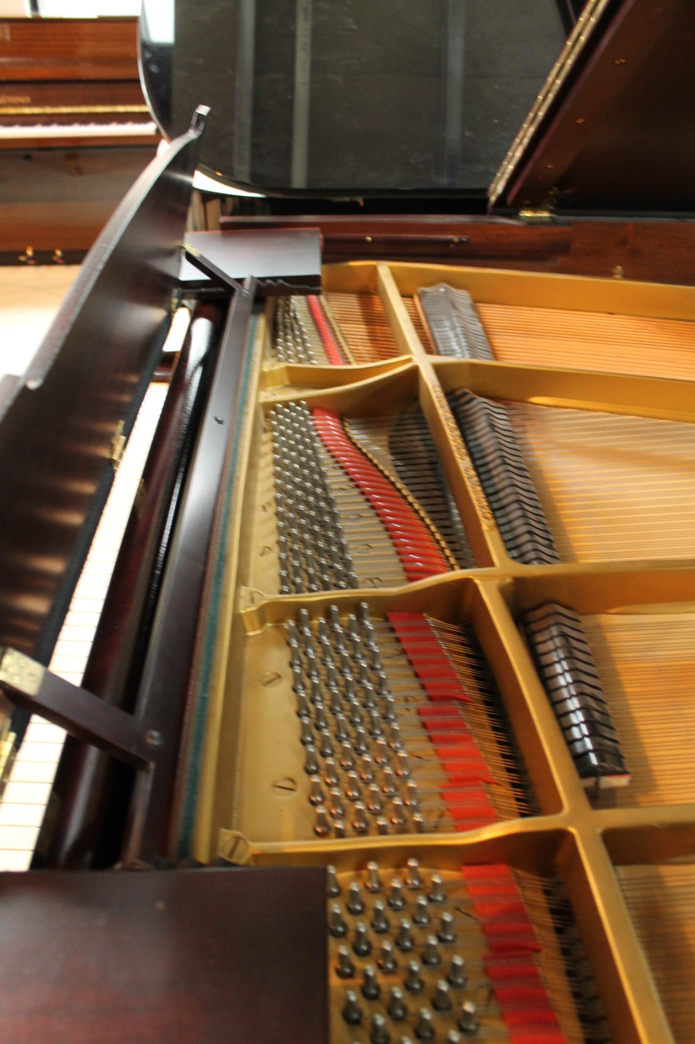 Steinway (c1940) A 5ft 10in Model O grand piano in a mahogany case on cabriole legs; - Image 5 of 9