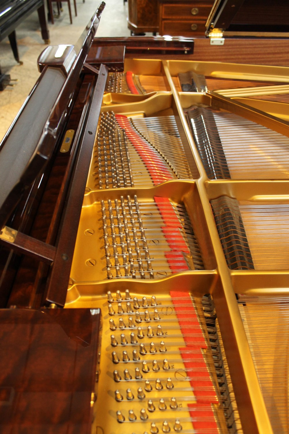 Steinway (c2009) A 6ft 11in Model B grand piano in a bright pommele mahogany case on square - Image 5 of 9
