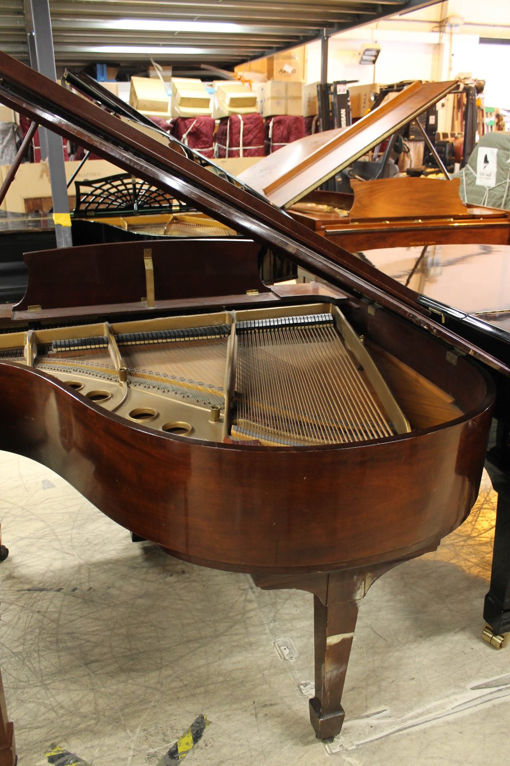 Steinway (c1950) A 5ft 1in Model S grand piano in a mahogany case on square tapered legs. - Image 6 of 7