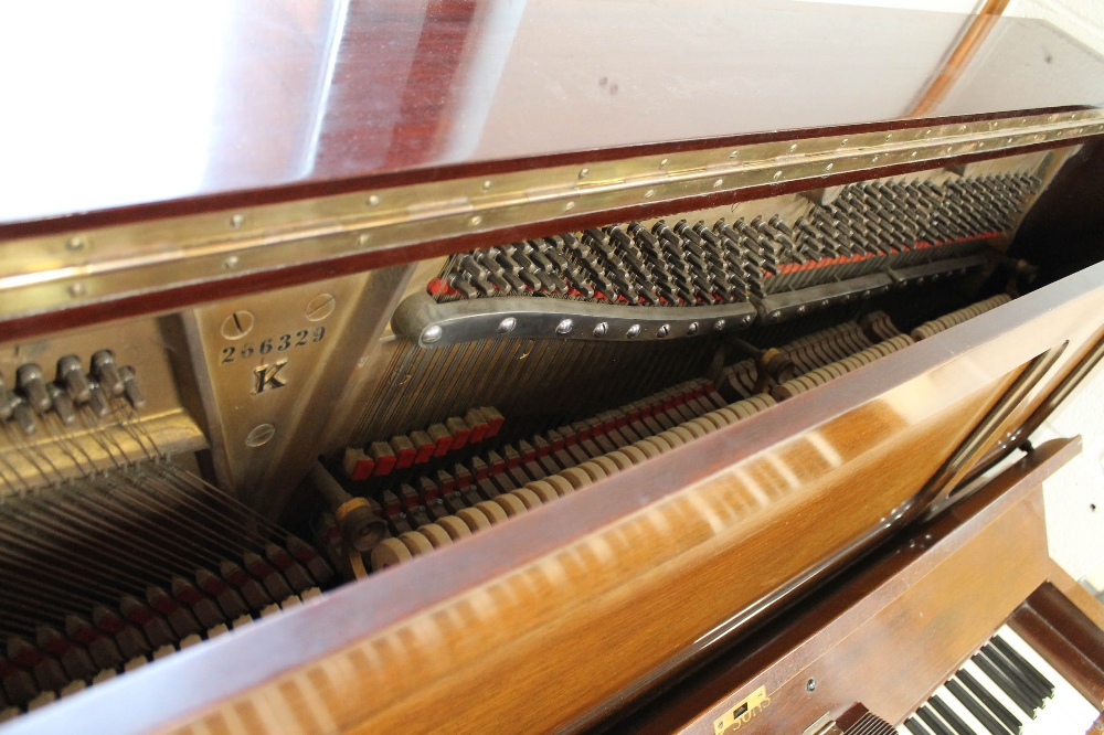 Steinway (c1929) A Model K upright piano in a mahogany case; together with a stool. - Image 3 of 5