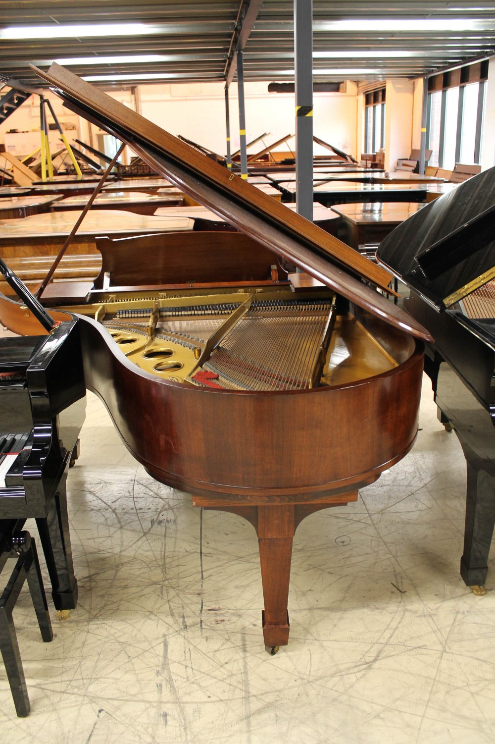 Steinway (c1926) An 88-note 5ft 10in Model O grand piano in a mahogany case on square tapered legs; - Image 7 of 8