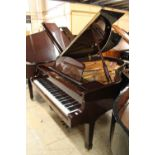 Yamaha (c2002) A 6ft 1in Model C3 grand piano in a bright mahogany case on square tapered legs.