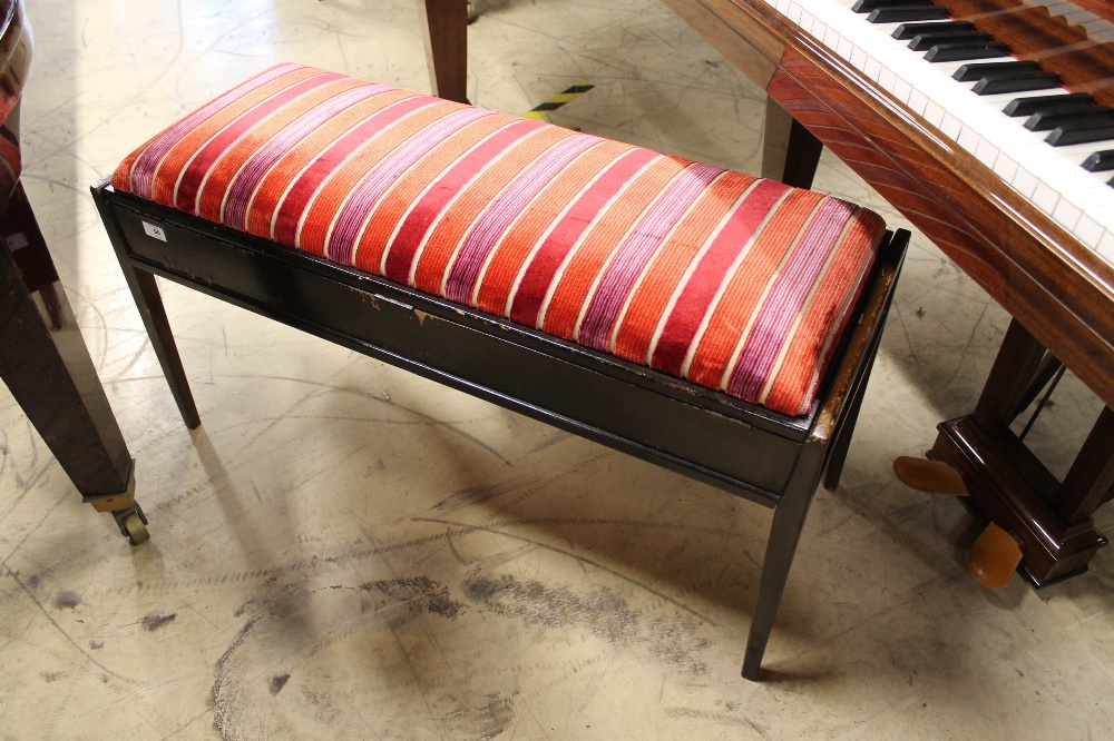 Steinway (c1979) A 5ft 10in Model O grand piano in a bright mahogany case on square tapered legs; - Image 9 of 9