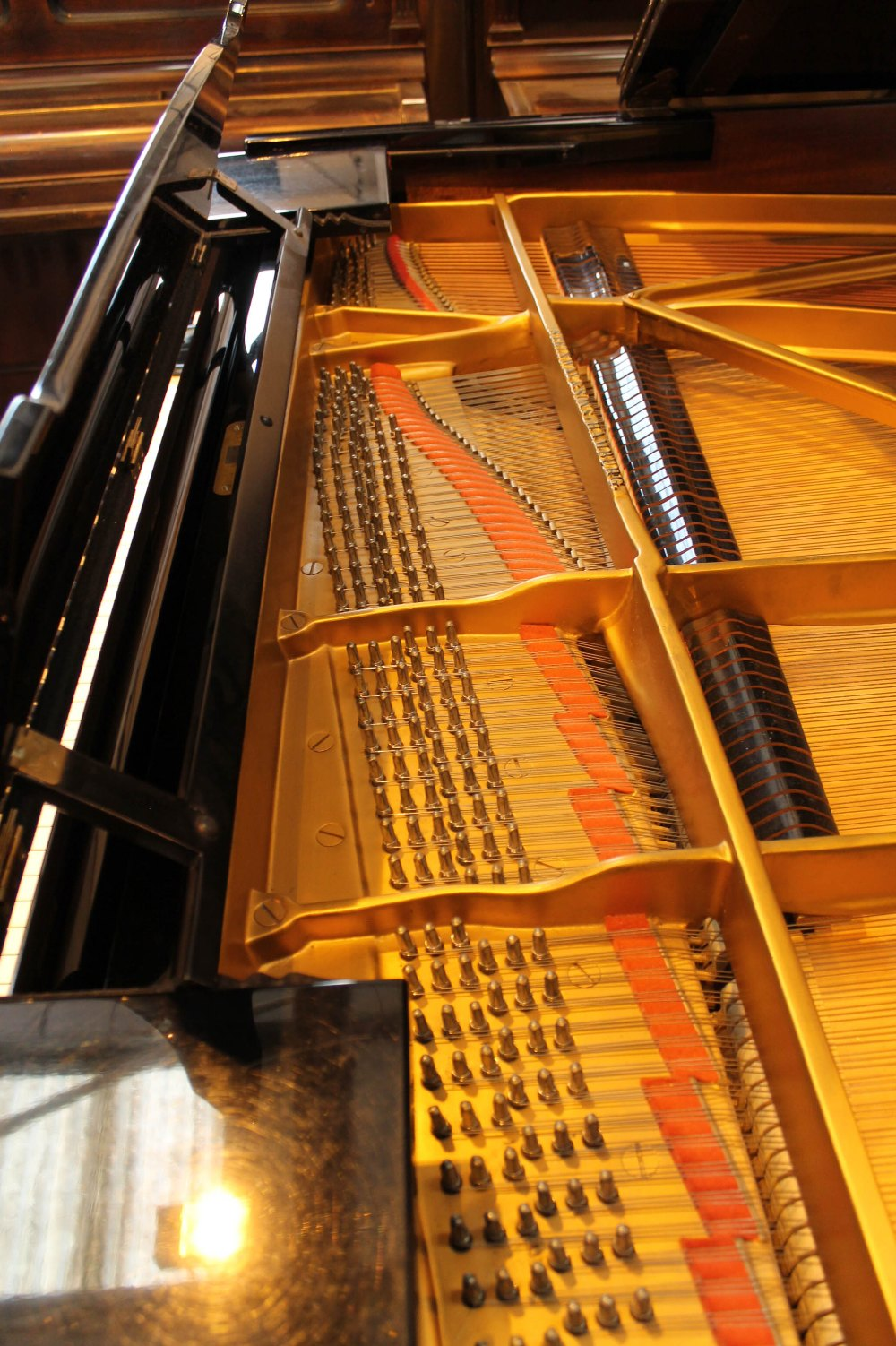 Steinway (c1971) A 6ft 11in Model B grand piano in a bright ebonised case on square tapered legs; - Image 5 of 9