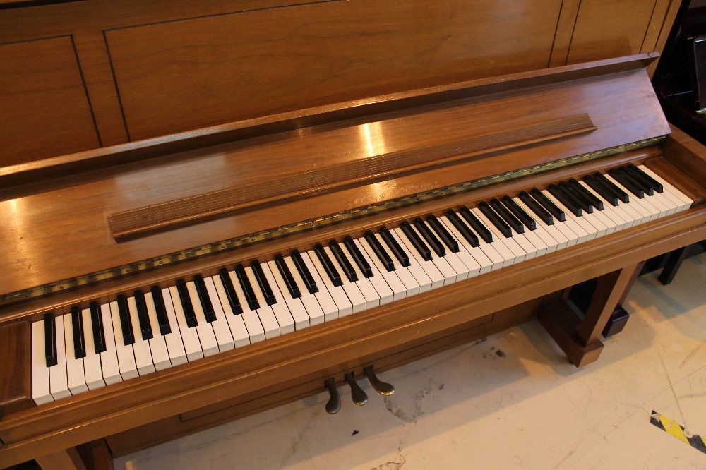 """Steinway (c1969) A """"New York Professional"""" upright piano in a walnut sable case; - Image 2 of 5"""