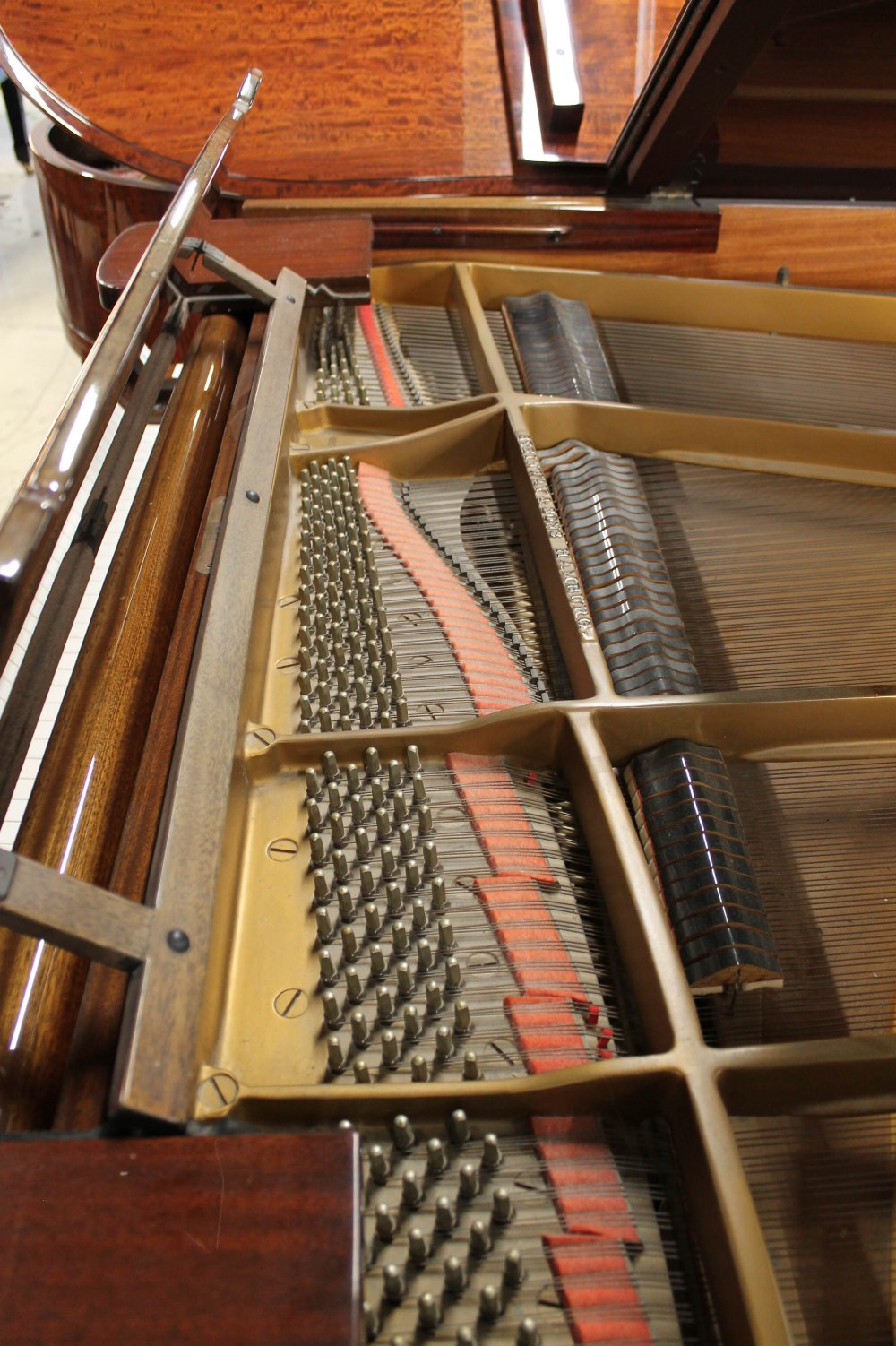 Steinway (c1979) A 5ft 10in Model O grand piano in a bright mahogany case on square tapered legs; - Image 5 of 9