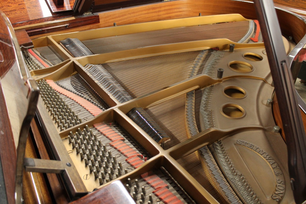 Steinway (c1979) A 5ft 10in Model O grand piano in a bright mahogany case on square tapered legs; - Image 4 of 9
