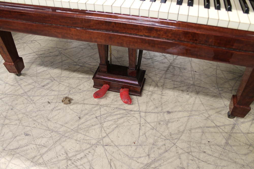 Steinway (c1924) A 5ft 10in Model O grand piano in a fiddleback mahogany case with square tapered - Image 3 of 8