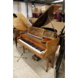 Obermayer (c1900) A 5ft 3in grand piano in a rosewood case on dual square tapered legs.