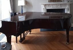 Steinway (c2009) A 6ft 11in Model B grand piano in a bright pommele mahogany case on square