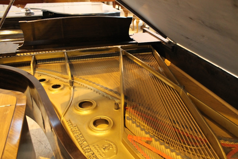 Steinway (c1921) A 191cm New York Model A grand piano in a mahogany case on square tapered legs. - Image 8 of 8