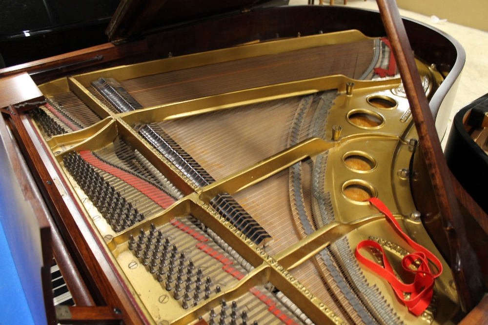 Steinway (c1926) An 88-note 5ft 10in Model O grand piano in a mahogany case on square tapered legs; - Image 4 of 8