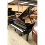 Yamaha (c2001) A 5ft 8in Model C2 grand piano in a bright ebonised case on square tapered legs;