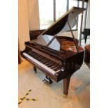 Weber (c2005) A 4ft 11in Model 150 grand piano in a bright walnut case on square tapered legs;