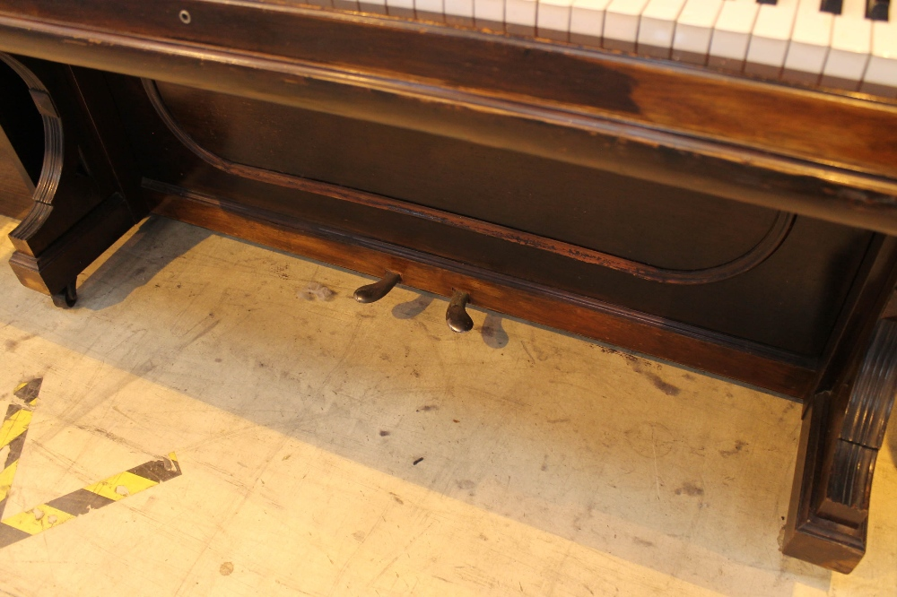 Steinway (c1896) A Model E upright piano in a rosewood case; together with a stool. - Image 3 of 5