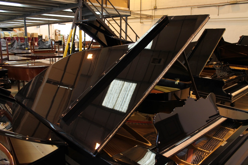 Steinway (c1902) A 7ft 5in Model C grand piano in a bright ebonised case on square tapered legs; - Image 6 of 8