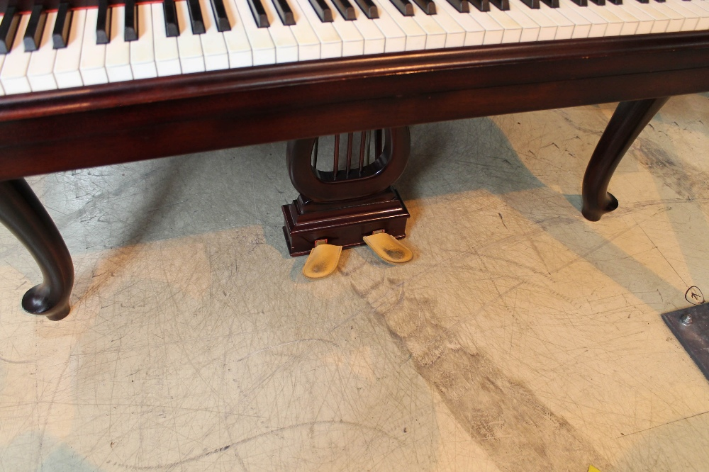 Steinway (c1940) A 5ft 10in Model O grand piano in a mahogany case on cabriole legs; - Image 3 of 9
