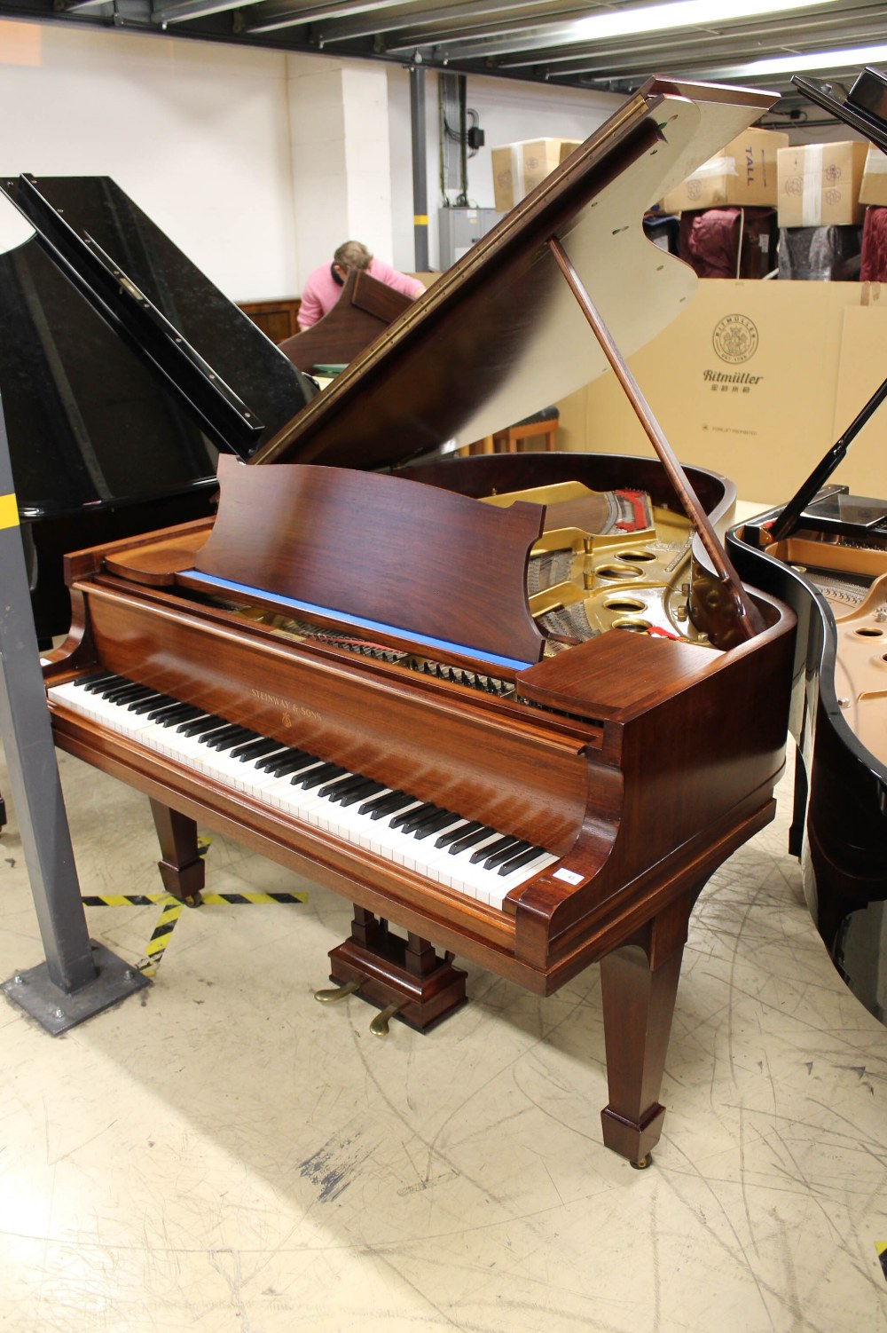 Steinway (c1926) An 88-note 5ft 10in Model O grand piano in a mahogany case on square tapered legs;
