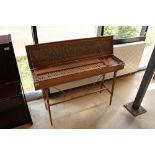 Clavichord An unnamed clavichord in a walnut case, with mahogany naturals and boxwood incidentals,