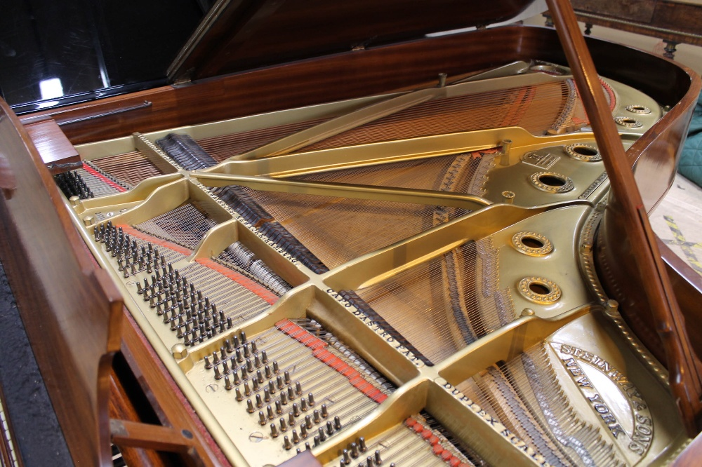 Steinway (c1928) A 7ft 5in grand piano in a French polished rosewood case on square tapered legs. - Image 4 of 8