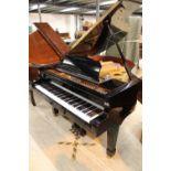 Estonia (c2004) A 5ft 6in Model 168 grand piano in a bright ebonised case on square tapered legs;