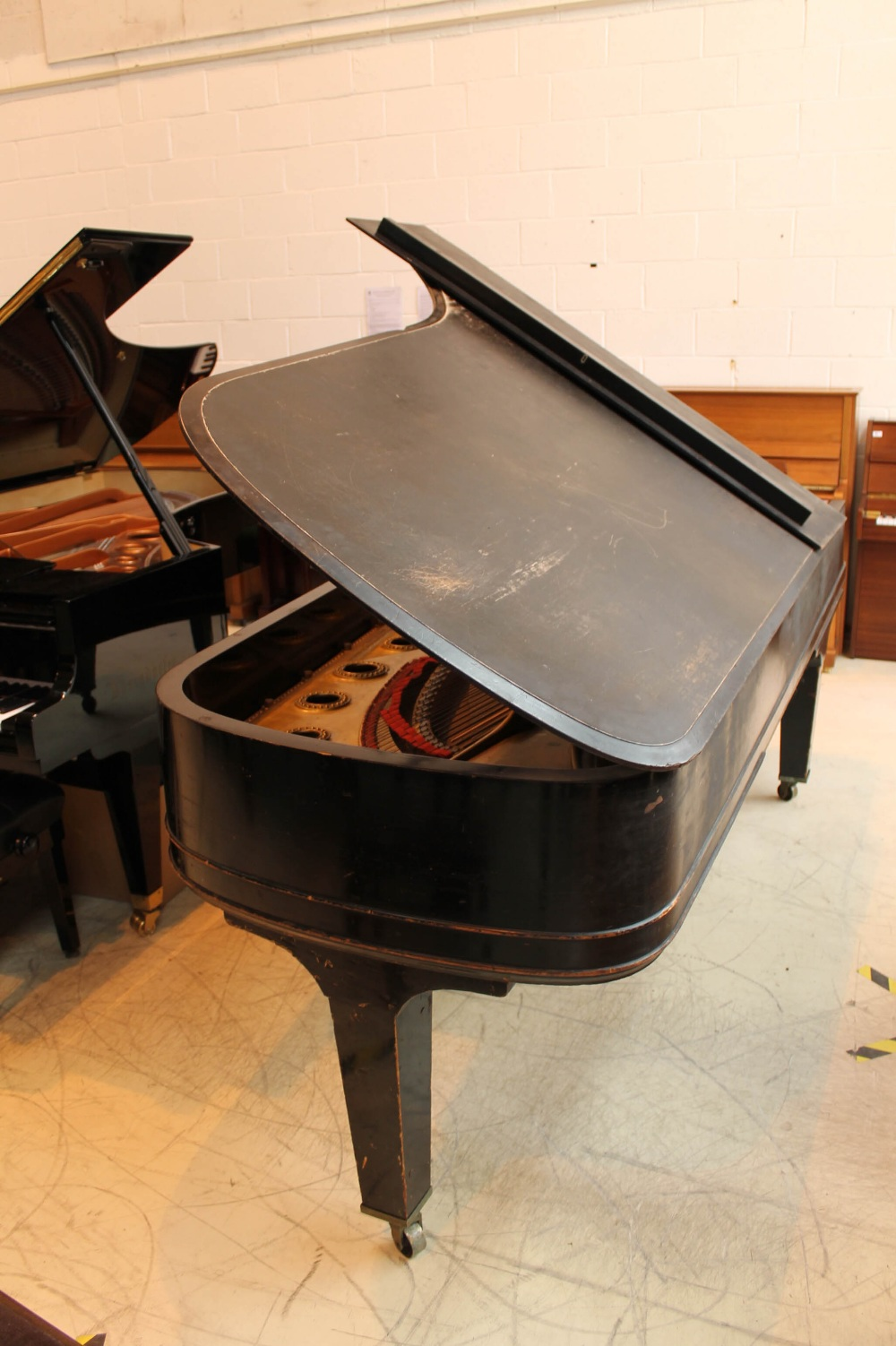 Steinway (c1888) A 9ft concert grand piano in an ebonised case on turned legs. - Image 7 of 8