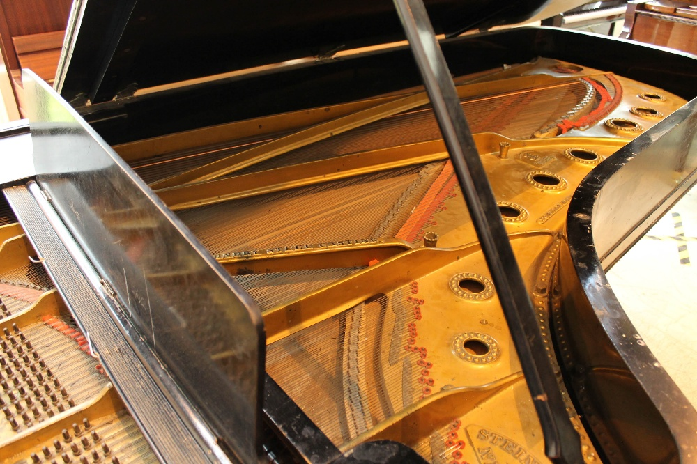 Steinway (c1888) A 9ft concert grand piano in an ebonised case on turned legs. - Image 4 of 8