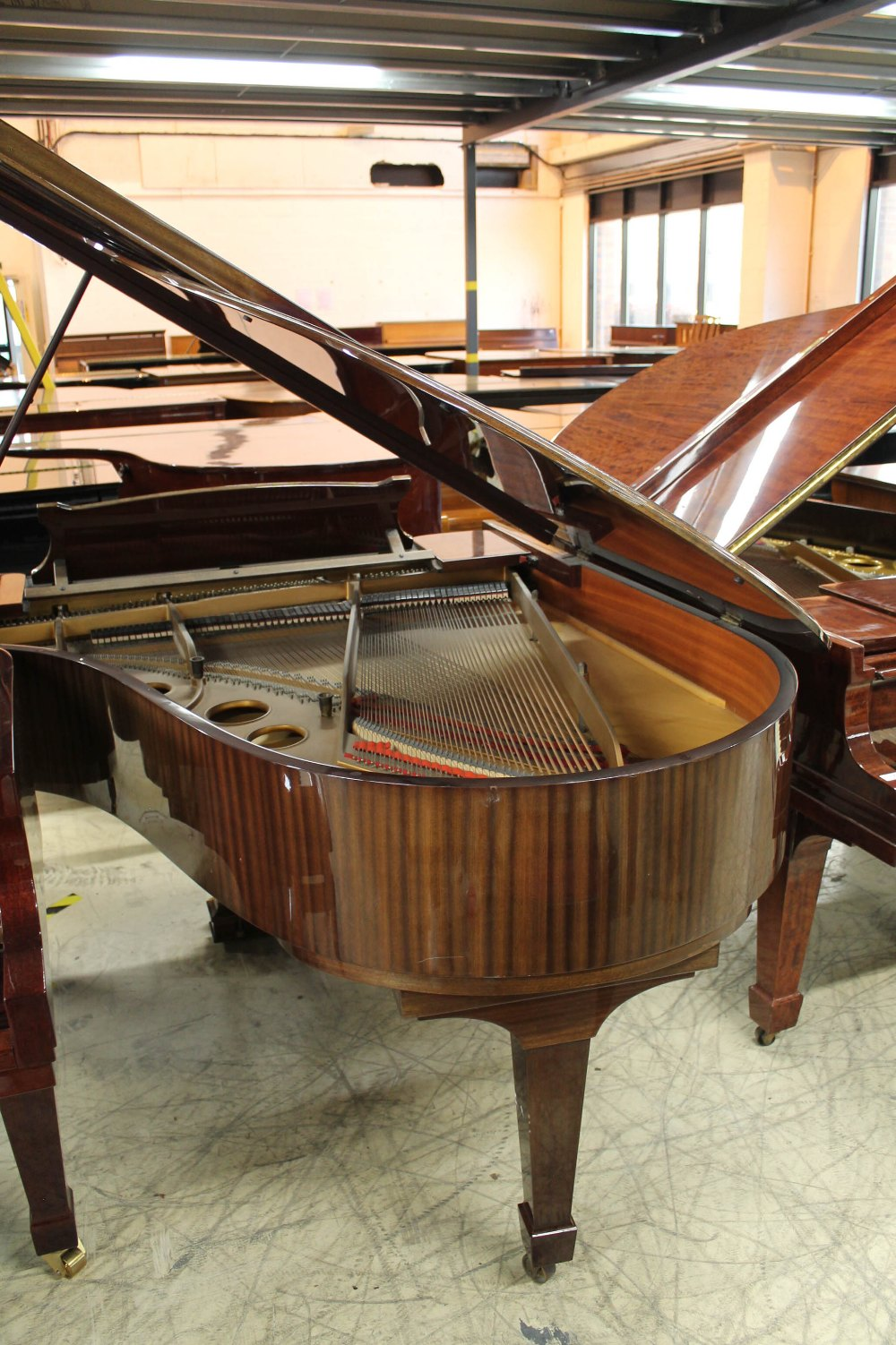 Steinway (c1979) A 5ft 10in Model O grand piano in a bright mahogany case on square tapered legs; - Image 7 of 9