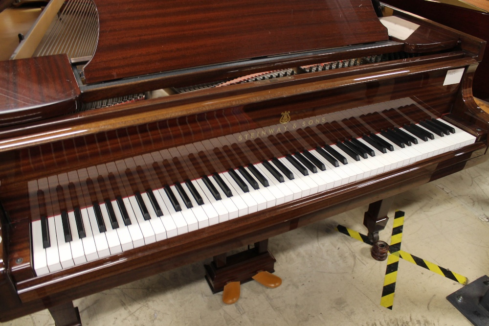 Steinway (c1979) A 5ft 10in Model O grand piano in a bright mahogany case on square tapered legs; - Image 2 of 9