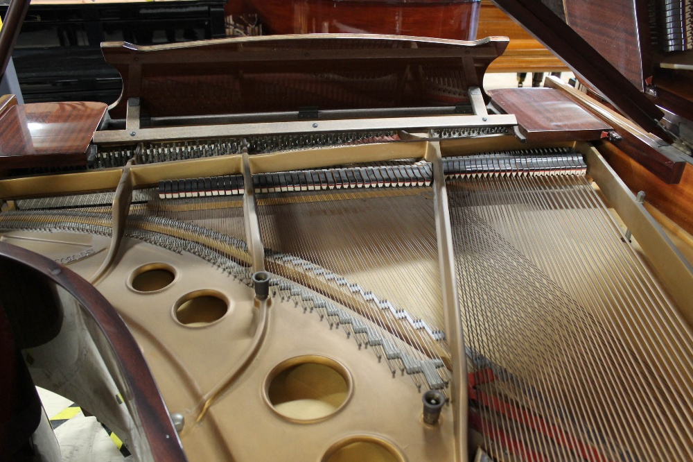 Steinway (c1979) A 5ft 10in Model O grand piano in a bright mahogany case on square tapered legs; - Image 8 of 9