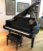 Steinway (c2015) A 6ft 11in Model B grand piano in a bright ebonised case on square tapered legs;