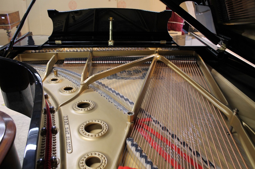 Steinway (c1890s) An 85-note 6ft 11in Model B grand piano in a bright ebonised case on square - Image 8 of 8