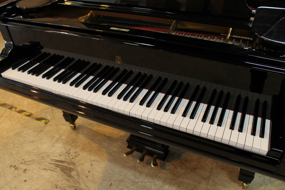 Steinway (c1890s) An 85-note 6ft 11in Model B grand piano in a bright ebonised case on square - Image 2 of 8
