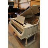 Chappell (late 19th century) A 7ft grand piano in a later white painted case,