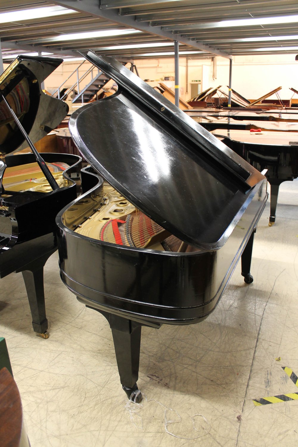 Steinway (c1898) A 6ft 2in 88-note Model A grand piano in an ebonised case on square tapered legs. - Image 7 of 8