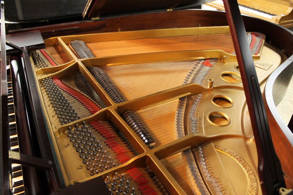 Steinway (c1940) A 5ft 10in Model O grand piano in a mahogany case on cabriole legs; - Image 4 of 9