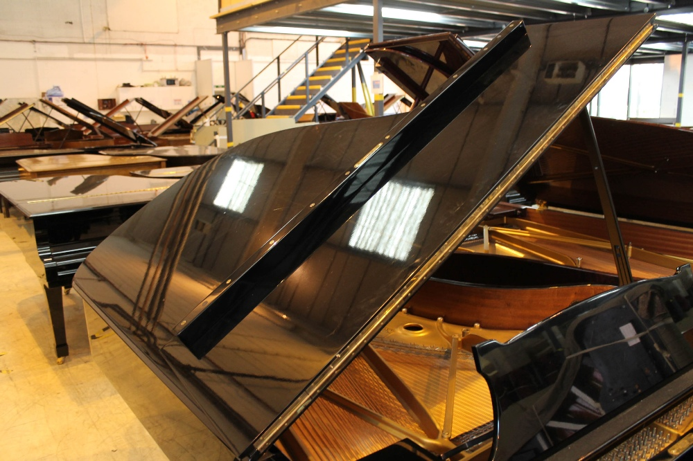 Steinway (c1971) A 6ft 11in Model B grand piano in a bright ebonised case on square tapered legs; - Image 6 of 9