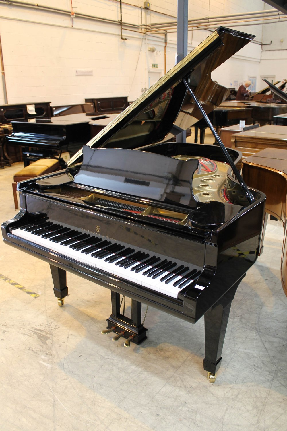 Steinway (c1890s) An 85-note 6ft 11in Model B grand piano in a bright ebonised case on square